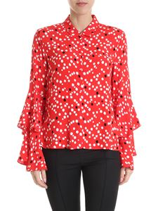 Patrizia Pepe - Red shirt with black and white pattern