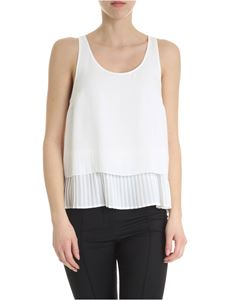 Patrizia Pepe - White top with pleated bottom