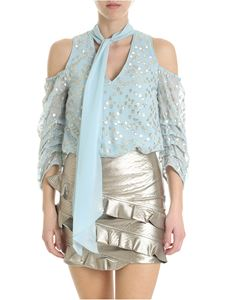 Patrizia Pepe - Light blue body with golden embroideries