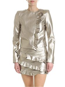 Patrizia Pepe - Golden jacket in reptile-effect eco-leather
