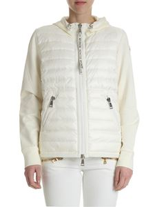 Moncler - Cream-colored down jacket with logo
