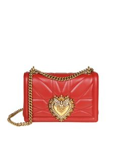 Dolce & Gabbana - Red bag in nappa Devotion D&G