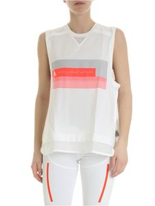 Adidas by Stella McCartney - Top sportivo Tank bianco