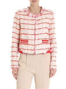 Pinko - Ribelle jacket in ivory and red