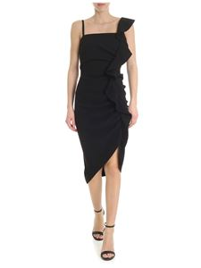 Pinko - Anita black dress with ruffles