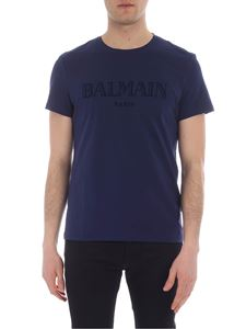 Balmain - Blue cotton crew neck T-shirt