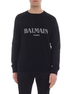 Balmain - Black sweatshirt with logo print