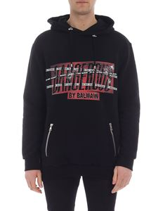 Balmain - Black hooded sweatshirt