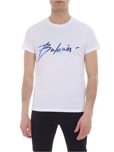 Balmain - White T-shirt with logo print