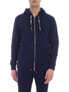 Balmain - Dark blue hooded sweatshirt