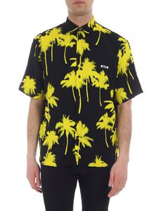 MSGM - Black shirt with palm print