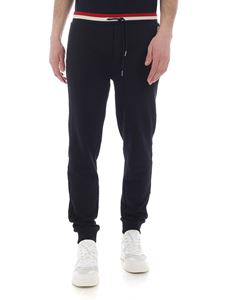 Moncler - Blue cotton trousers