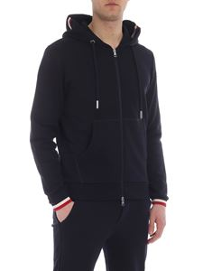 Moncler - Blue cotton sweatshirt