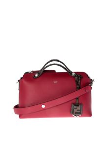 Fendi - Red medium By The Way handbag with logo charms