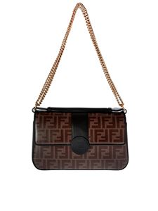 Fendi - Brown Double F shoulder bag