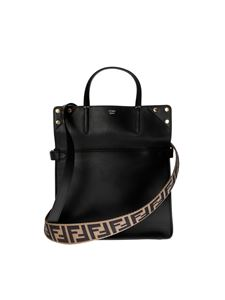 Fendi - Flip regular handbag in black