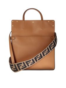 Fendi - Camel medium Flip handbag