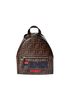 Fendi - Brown mini Fendi Mania backpack