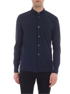Zanone - Blue Ice-cotton shirt