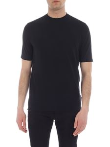 Zanone - T-shirt in pure black cotton
