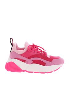 Stella McCartney - Sneakers Eclypse fucsia con suola over