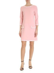 Moschino - Pink dress with faux patch pockets