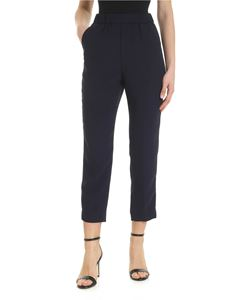 Peserico - Blue cady trousers