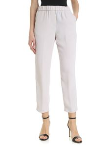 Peserico - Gray pearl trousers in cady
