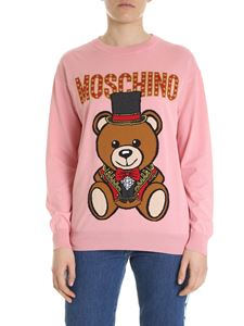 Moschino - Pink Teddy Bear pullover with inlay