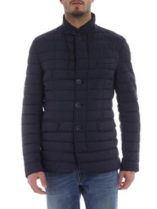 Herno - Quilted blue down jacket