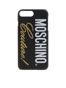 Moschino - Cover Moschino nera per IPhone 6/6S/7/8Plus