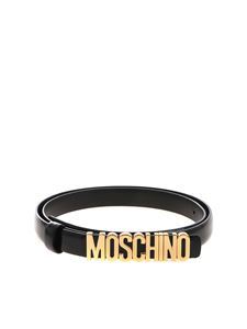 Moschino - Black belt with golden Moschino logo