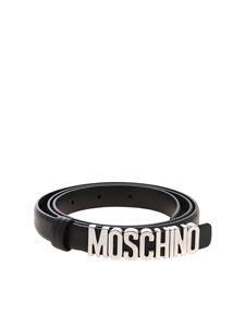 Moschino - Black belt with silver Moschino logo