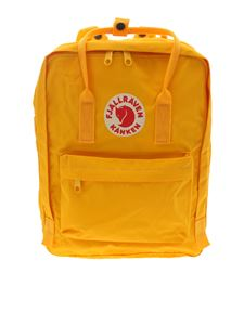 Fjallraven - Classic Kanken backpack in yellow with logo