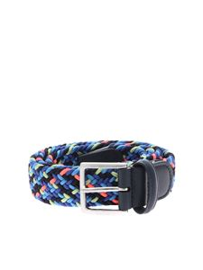 Anderson's - Braided belt in shades of blue and neon pink