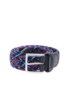 Anderson's - Braided belt in shades of blue