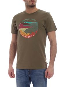 Fjallraven - Classic HK t-shirt in army green with Hong Kong print