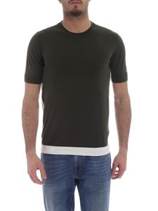 Paolo Pecora - Knitted crew-neck t-shirt in army green