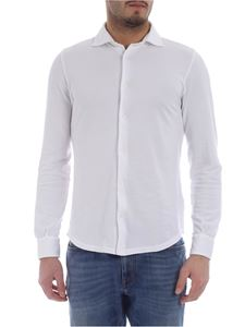 Fedeli - Steve shirt in white organic cotton pique