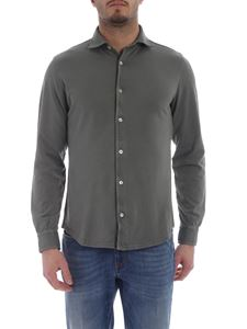 Fedeli - Steve shirt in green organic cotton pique