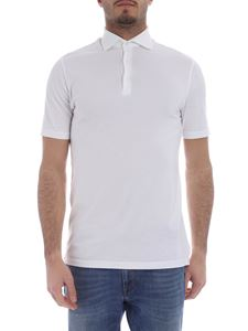 Fedeli - Zero white polo with short sleeves