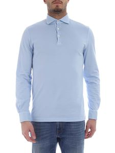 Fedeli - Light blue polo with long sleeves
