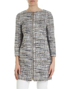 Herno - Bouclé coat in shades of grey