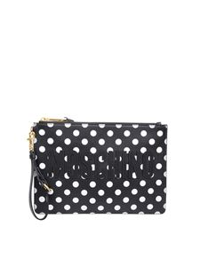 Moschino - Polka-dots pouch with logo