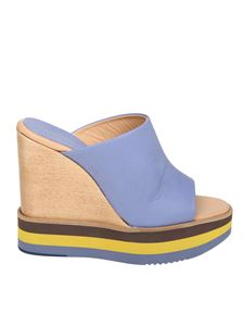 Paloma Barceló - Light blue Akira sandals