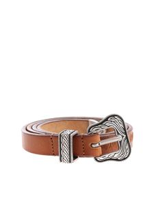 HTC - Lamar Slim Belt brown leather belt