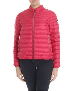 Colmar - Punk quilted fuchsia down jacket with logo