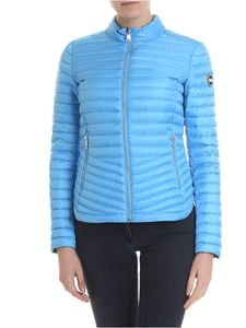 Colmar - Light blue Punk quilted down jacket with logo