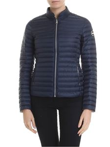 Colmar - Blue quilted Punk down jacket with logo