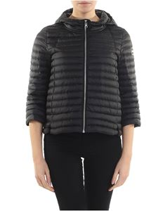 Colmar - Black Punk down jacket with three-quarter sleeves